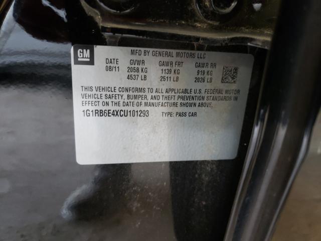 2012 CHEVROLET VOLT 1G1RB6E4XCU101293