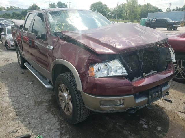 Salvage trucks for sale at Bridgeton, MO auction: 2005 Ford F150 Super