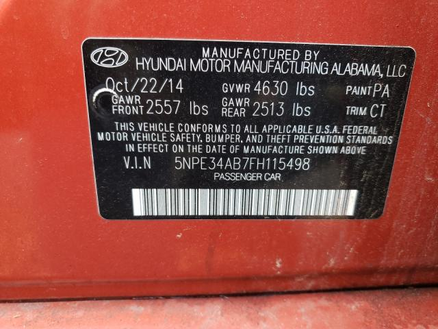 2015 HYUNDAI SONATA SPO 5NPE34AB7FH115498
