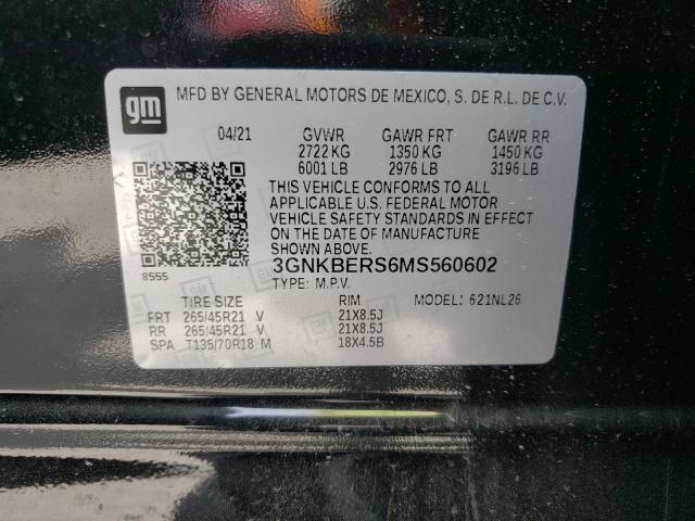 2021 CHEVROLET BLAZER RS 3GNKBERS6MS560602