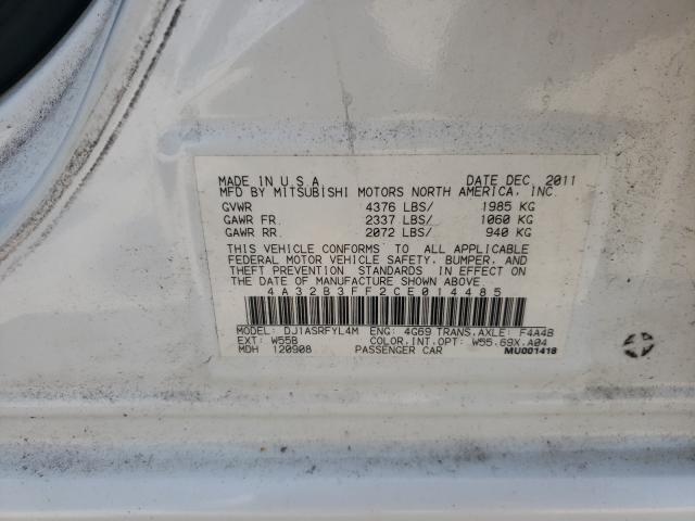 2012 MITSUBISHI GALANT ES 4A32B3FF2CE014485