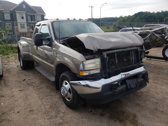 Salvage cars for sale from Copart Madison, WI: 2002 Ford F350 Super