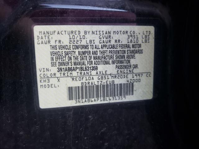 2011 NISSAN SENTRA 2.0 3N1AB6AP1BL631359