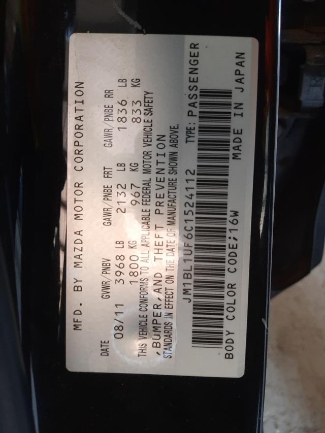 2012 MAZDA 3 I JM1BL1UF6C1524112