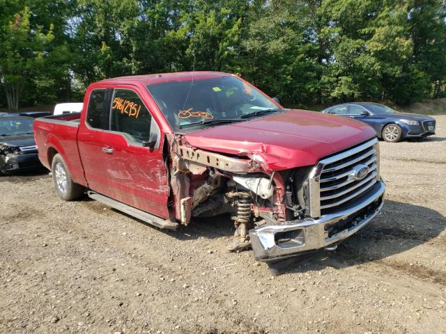 Salvage cars for sale from Copart Lyman, ME: 2017 Ford F150 Super