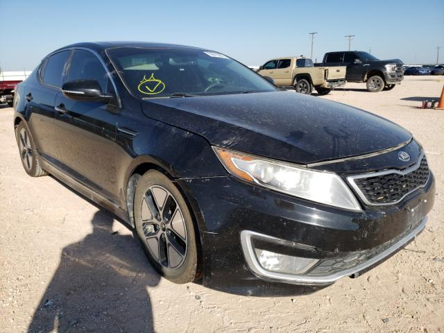 Salvage cars for sale from Copart Andrews, TX: 2012 KIA Optima Hybrid