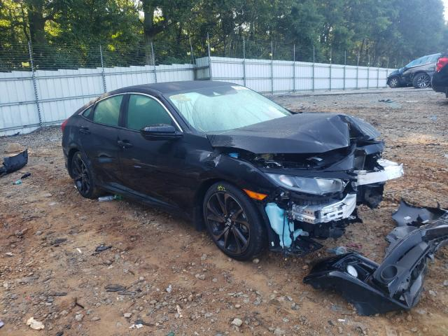 Salvage cars for sale from Copart Austell, GA: 2021 Honda Civic Sport
