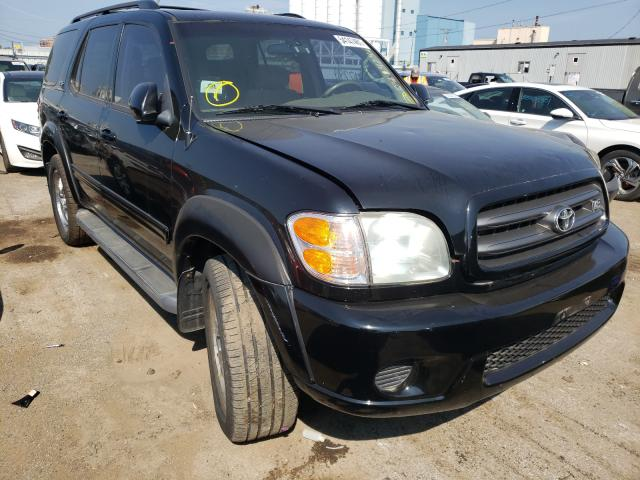 Salvage cars for sale from Copart Chicago Heights, IL: 2001 Toyota Sequoia