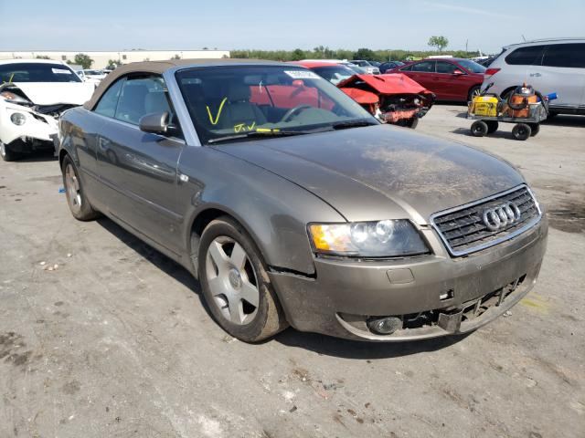 Salvage cars for sale from Copart Orlando, FL: 2004 Audi A4 1.8 Cabriolet