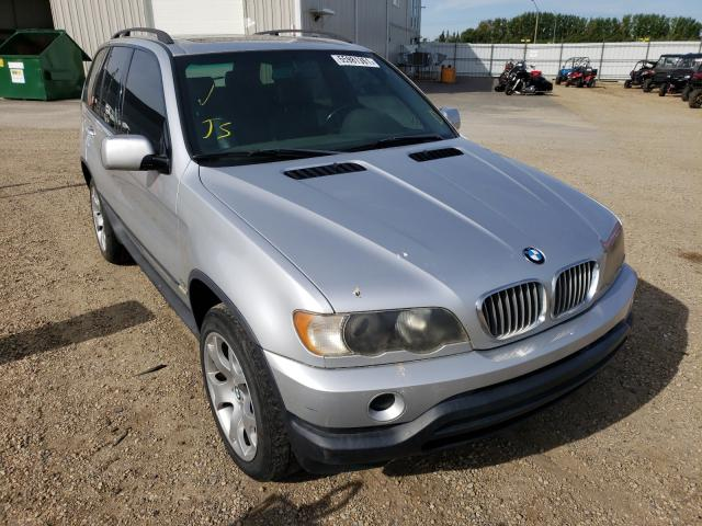Salvage cars for sale at Nisku, AB auction: 2001 BMW X5 4.4I