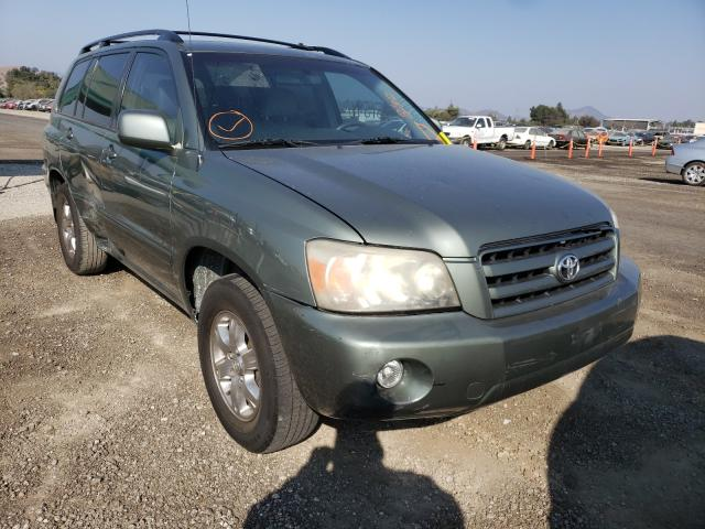 Salvage cars for sale from Copart San Martin, CA: 2006 Toyota Highlander