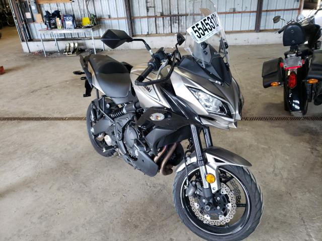 Salvage motorcycles for sale at Candia, NH auction: 2017 Kawasaki KLE650 F