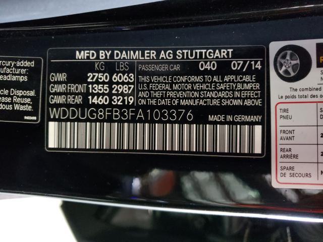 2015 MERCEDES-BENZ S 550 4MATIC