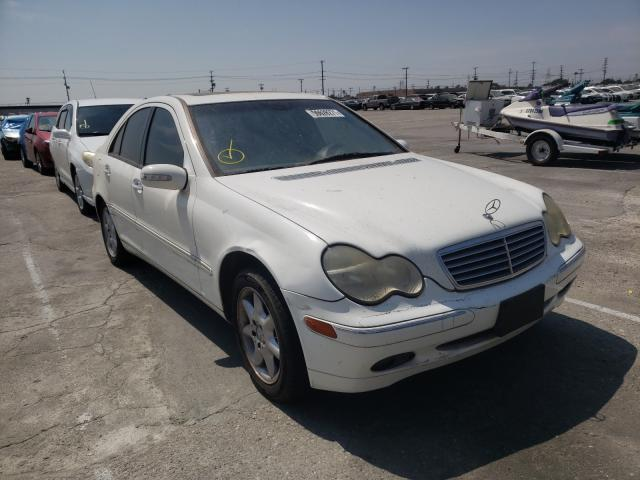 Salvage cars for sale from Copart Sun Valley, CA: 2002 Mercedes-Benz C 240