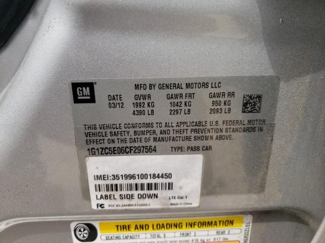 2012 CHEVROLET MALIBU 1LT 1G1ZC5E06CF297564