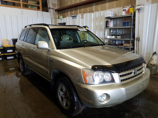 Salvage cars for sale at Anchorage, AK auction: 2001 Toyota Highlander