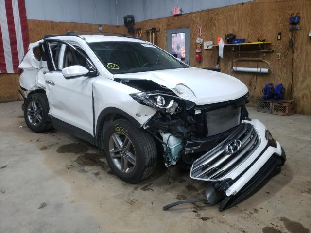 Salvage cars for sale from Copart Kincheloe, MI: 2017 Hyundai Santa FE S