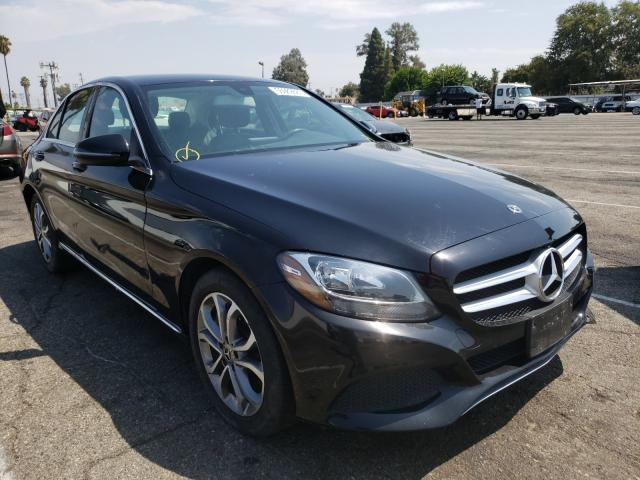 Salvage cars for sale from Copart Van Nuys, CA: 2017 Mercedes-Benz C300