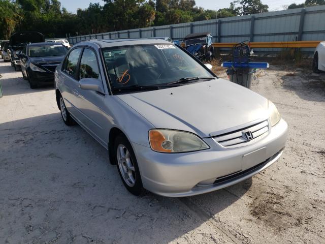 Vehiculos salvage en venta de Copart Fort Pierce, FL: 2002 Honda Civic EX