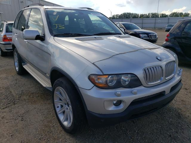 Salvage cars for sale at Nisku, AB auction: 2005 BMW X5 4.4I