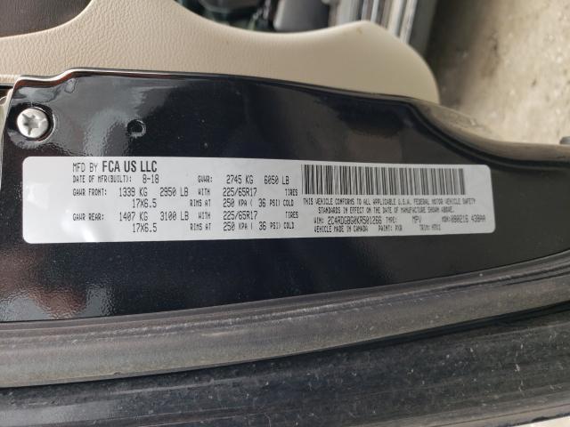 2019 DODGE GRAND CARA 2C4RDGBG0KR501266