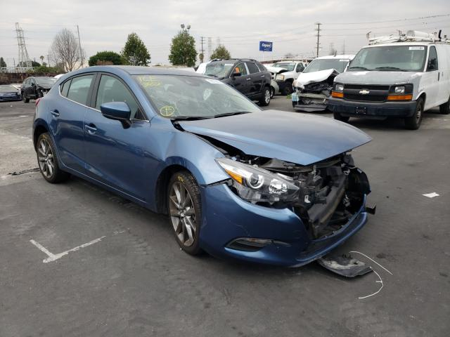 Salvage cars for sale from Copart Wilmington, CA: 2018 Mazda 3 Touring