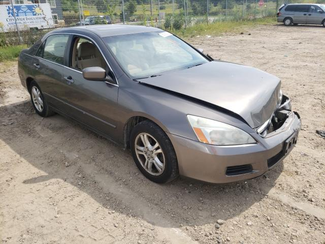 Salvage cars for sale from Copart Madison, WI: 2007 Honda Accord EX