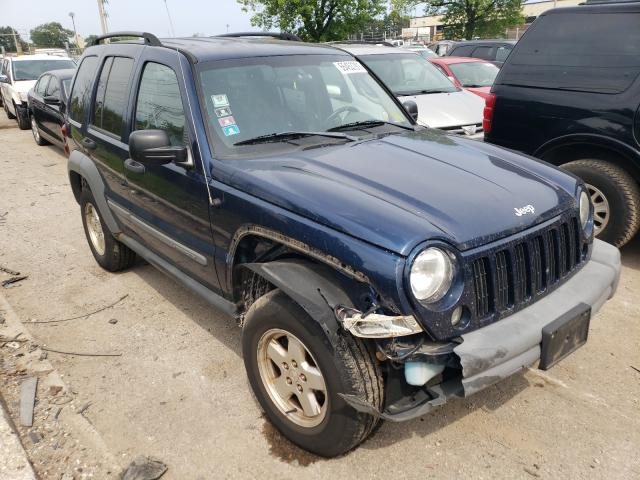 Salvage cars for sale from Copart Wheeling, IL: 2005 Jeep Liberty SP