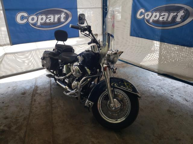 Salvage cars for sale from Copart Fort Wayne, IN: 2002 Harley-Davidson Flstci