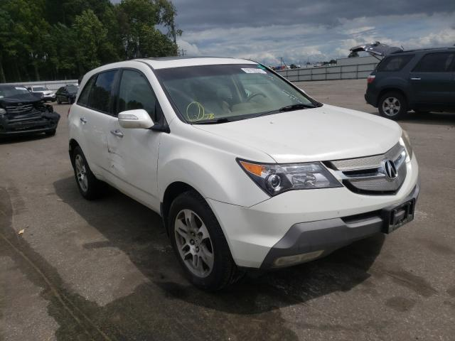 Salvage cars for sale from Copart Dunn, NC: 2007 Acura MDX Techno