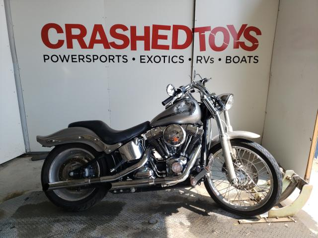 Salvage cars for sale from Copart Kansas City, KS: 2007 Harley-Davidson Fxst Custo