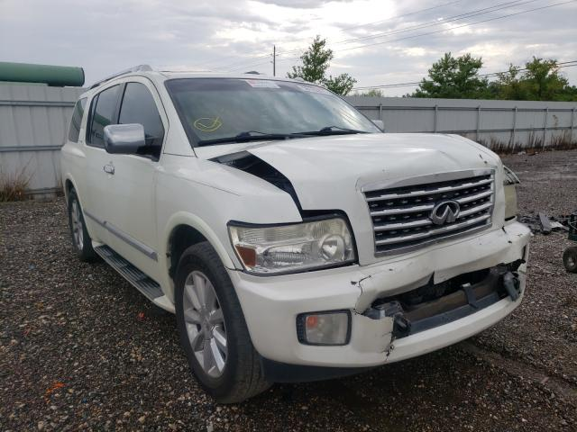 Salvage cars for sale at Houston, TX auction: 2010 Infiniti QX56