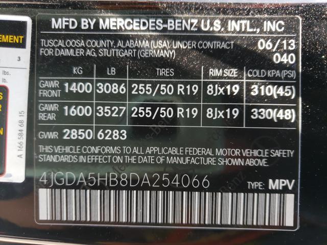 2013 MERCEDES-BENZ ML 350 4MATIC