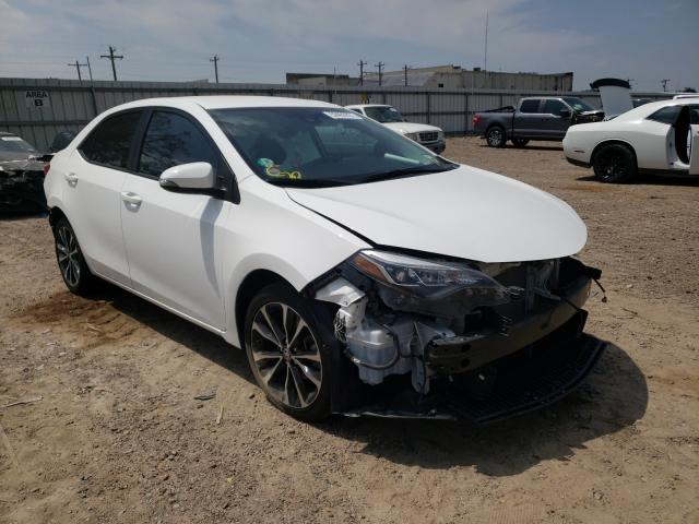 Salvage cars for sale from Copart Mercedes, TX: 2017 Toyota Corolla L
