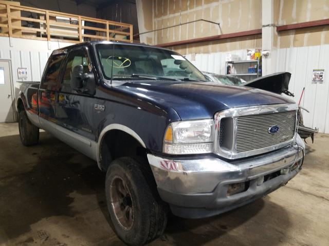 Salvage cars for sale from Copart Anchorage, AK: 2002 Ford F350 SRW S