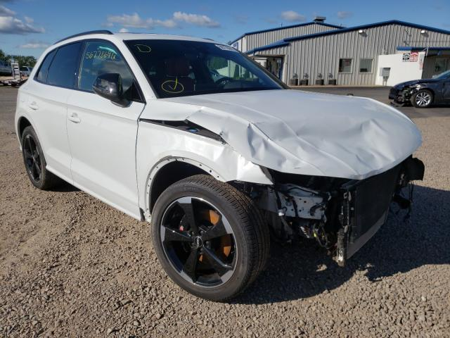 Salvage cars for sale from Copart Central Square, NY: 2020 Audi SQ5 Premium
