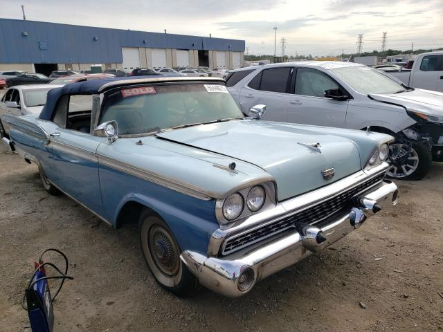 Ford Galaxie salvage cars for sale: 1959 Ford Galaxie