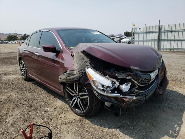 Salvage cars for sale from Copart San Martin, CA: 2017 Honda Accord Sport