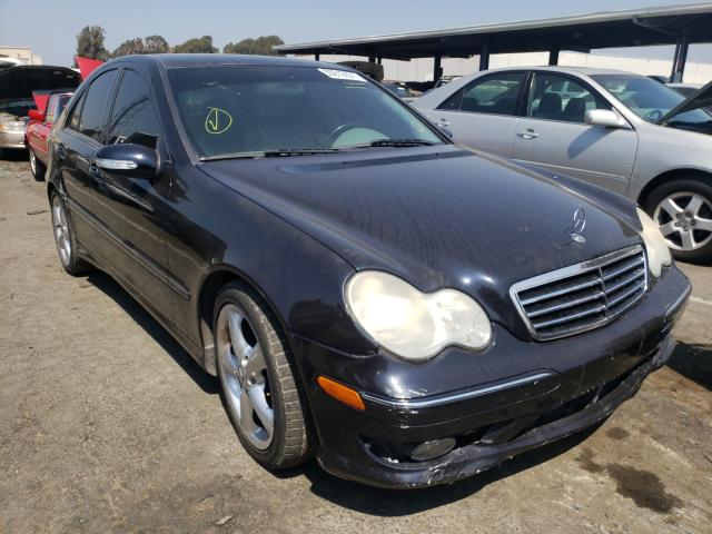 Salvage cars for sale from Copart Hayward, CA: 2005 Mercedes-Benz C 230K Sport