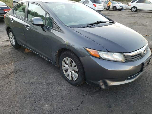 Salvage cars for sale from Copart Albany, NY: 2012 Honda Civic LX