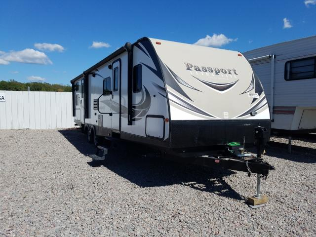 Keystone Travel Trailer salvage cars for sale: 2017 Keystone Travel Trailer