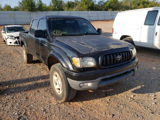 Salvage trucks for sale at Oklahoma City, OK auction: 2002 Toyota Tacoma DOU