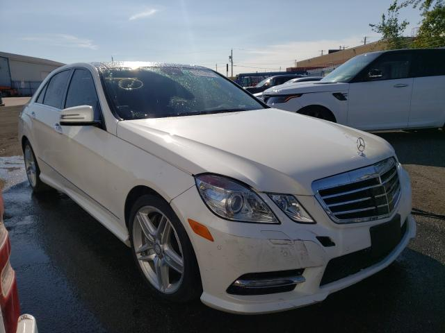 Salvage cars for sale at Bowmanville, ON auction: 2013 Mercedes-Benz E 550 4matic