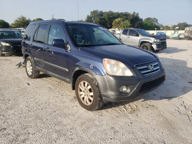 Salvage cars for sale from Copart Punta Gorda, FL: 2005 Honda CR-V EX