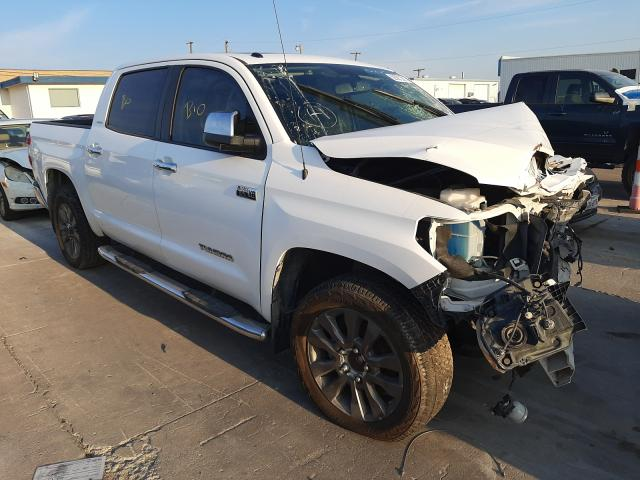 Salvage trucks for sale at Grand Prairie, TX auction: 2015 Toyota Tundra CRE