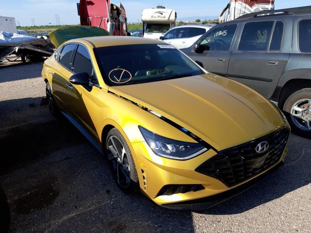 Salvage cars for sale at Tucson, AZ auction: 2021 Hyundai Sonata SEL