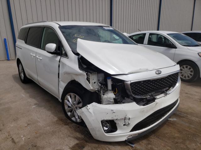 KIA Sedona EX salvage cars for sale: 2016 KIA Sedona EX