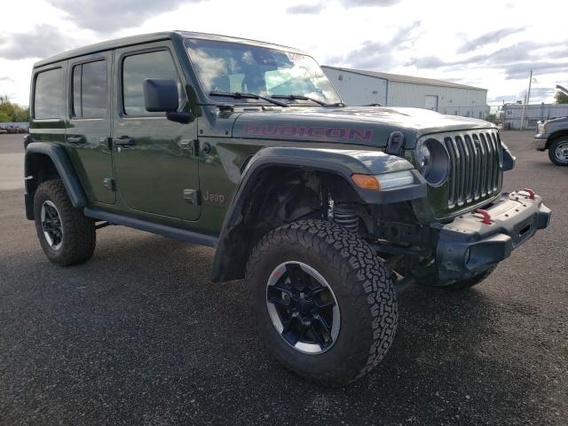 Salvage cars for sale from Copart Bowmanville, ON: 2021 Jeep Wrangler U