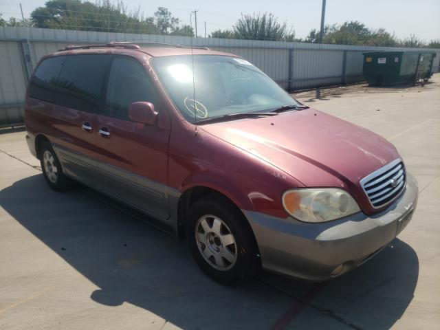 Vehiculos salvage en venta de Copart Wilmer, TX: 2003 KIA Sedona EX