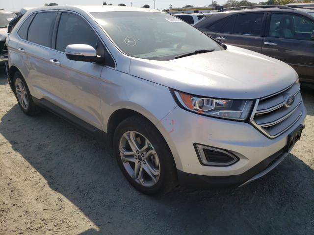 Salvage cars for sale from Copart Antelope, CA: 2015 Ford Edge Titanium